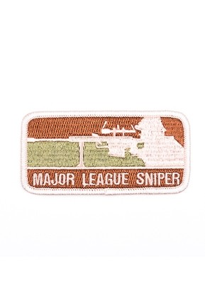 Badge Opstrijkbaar / Major League Sniper ;Camo