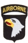 Badge Opstrijkbaar / US 101TH Airborne Division